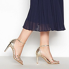 No. 1 Jenny Packham - Gold 'Posey' Mid Stiletto Heel Cage Sandals