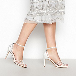 No. 1 Jenny Packham - Ivory Diamante 'Posey' Stiletto Heel Cage Sandals