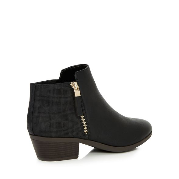 Spring ankle Call heel 'Gunson' Black It boots mid block 1xafTvxq