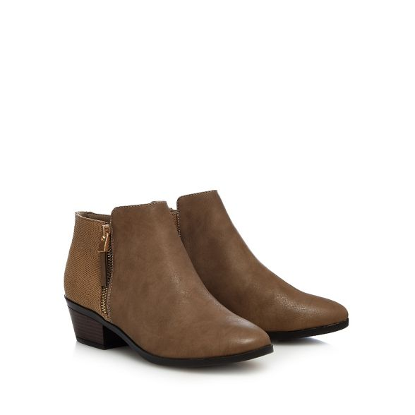 Call It Spring 'Gunson' Taupe mid boots heel block ankle drdqOF1