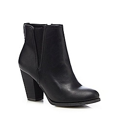 Call It Spring - Black 'Pydia' high block heel ankle boots