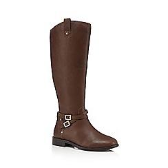 Faith - Tan 'Millie' calf length boots