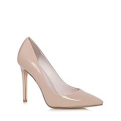 Faith - Nude 'Chloe' patent high stiletto pointed shoes