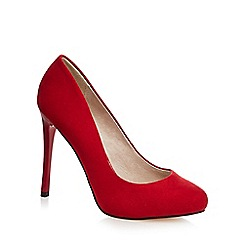 Faith - Red 'Candy' high heel wide fit court shoes