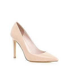 Faith - Nude patent 'Chloe' high heel wide fit pointed shoes
