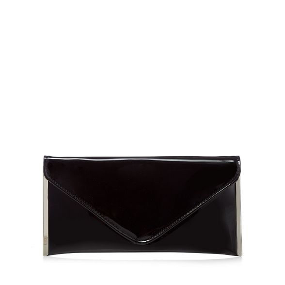 Black Faith envelope patent bag 'Promise' clutch 8zCAxq