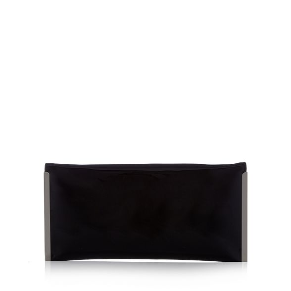 Black clutch 'Promise' Faith bag envelope patent dS6cgqcB