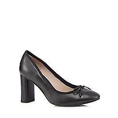 Clarks - Black 'Idamarie Faye' high heel slip-on shoes