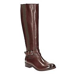 Clarks - Brown Leather 'Pita Vienna' knee high boots