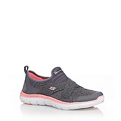 Skechers - Grey 'Flex Appeal 2.0' trainers