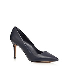 J by Jasper Conran - Navy leather pointed high shoes