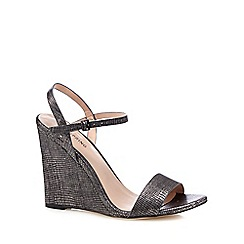 Call It Spring - Black 'Dweliwiel' high wedge heel sandals