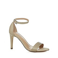 Call It Spring - Off white 'Ahlberg' high stiletto heel ankle strap sandals
