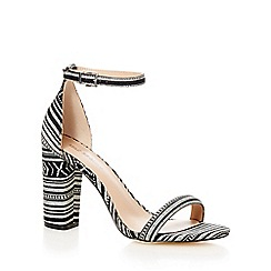 Call It Spring - Black 'Brelawien' high block heel ankle strap sandals