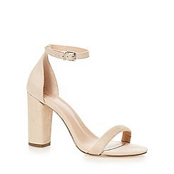 Call It Spring - Taupe 'Brelawien' high block heel ankle strap sandals