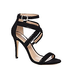Call It Spring - Black 'Timothya' high stiletto ankle strap sandals