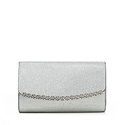 Call It Spring - Silver 'Pricia' daisy clutch bag