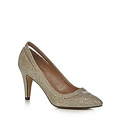 Call It Spring - Gold glitter 'Soraya' high stiletto heel pointed shoes