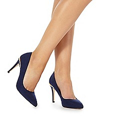 Faith - Navy 'Coleen' high stiletto heel pointed shoes