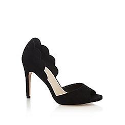 Faith - Black suedette 'Lisa' high stiletto heel peep toe shoes