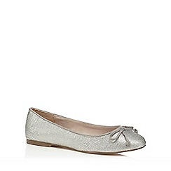 Faith - Silver glitter 'Angela' comfort fit pumps