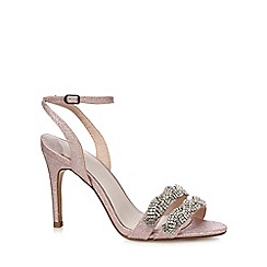 Faith - Pink glitter 'Dash' high stiletto heel ankle strap sandals