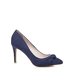 Faith - Navy suedette 'Claudia' high stiletto heel pointed shoes