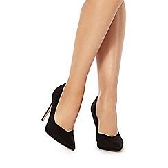 Faith - Black 'Carrot' high stiletto heel pointed shoes