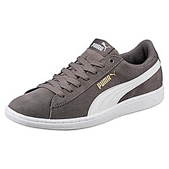 Puma - Grey suede 'Vikky' comfort fit trainers