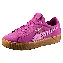 Puma - Pink suede 'Vikky' comfort fit trainers