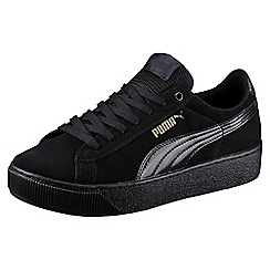 Puma - Black suede 'Vikky' comfort fit trainers