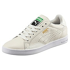 Puma - White leather 'Match Lo Wn' trainers