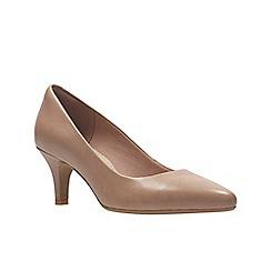 Clarks - Dusty Pink Lea'  ISIDORA FAYE'  Court Shoes
