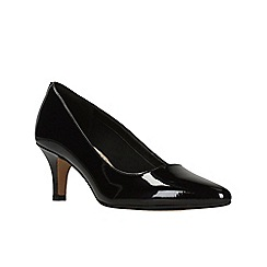 Clarks - Black Pat'  ISIDORA FAYE'  Court Shoes