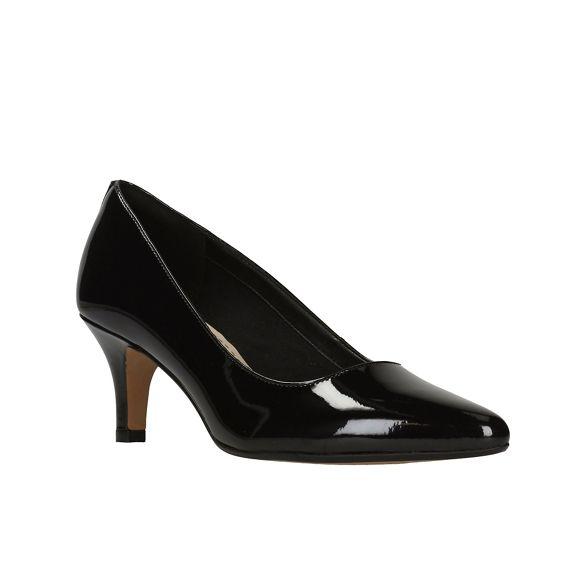 ISIDORA Court Black Pat' Shoes Clarks FAYE' axEAngq