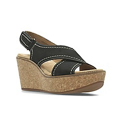 Clarks - Black Nubuck'  AISLEY TULIP'  Sandals