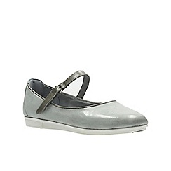 Clarks - Grey and blue lea ' tri axis ' pumps