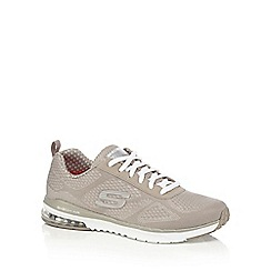 Skechers - Taupe lace-up trainers