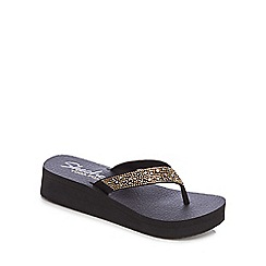 Skechers - Black 'Burst - Very Daring' flip flops