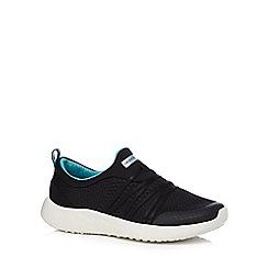 Skechers - Black 'Burst - Very Daring' slip on trainers
