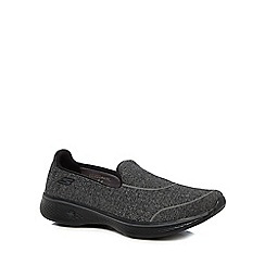 Skechers - Dark grey 'Go Walk 4' slip-on trainers