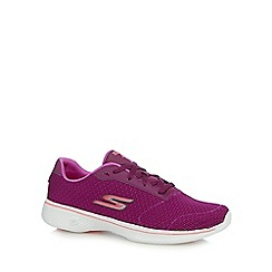 Skechers - Purple 'Go Walk 4' trainers
