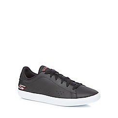 Skechers - Black leather 'Go Vulc' trainers