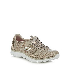 Skechers - Taupe 'Empire - Game On' slip-on trainers