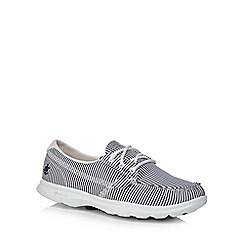 Skechers - Navy and white 'Sandy' trainers