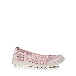 Skechers - Light pink lace 'Ex Flex 3.0 Majesty' slip-on trainers