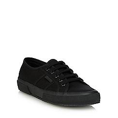 Superga - Black canvas 'Cotu Classic' lace up shoes