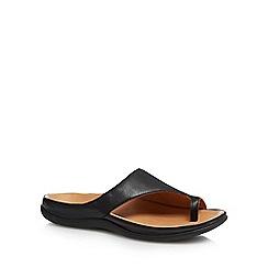 Strive - Black leather 'Capri' mule sandals