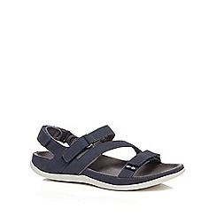Strive - Navy leather 'Montana' sandals