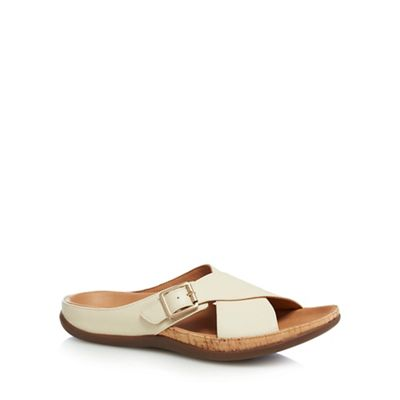 Strive - Off white leather blend 'Maria' sandals